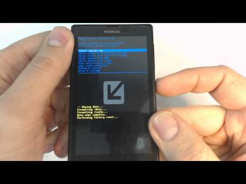 Nokia X - How to remove security lock by hard reset