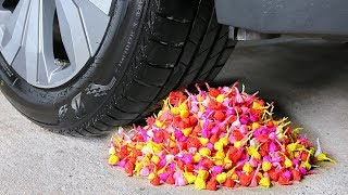 EXPERIMENT: 10000 SNAPPERS FIRECRACKERS vs CAR | Crushing Crunchy & Soft Things by Car