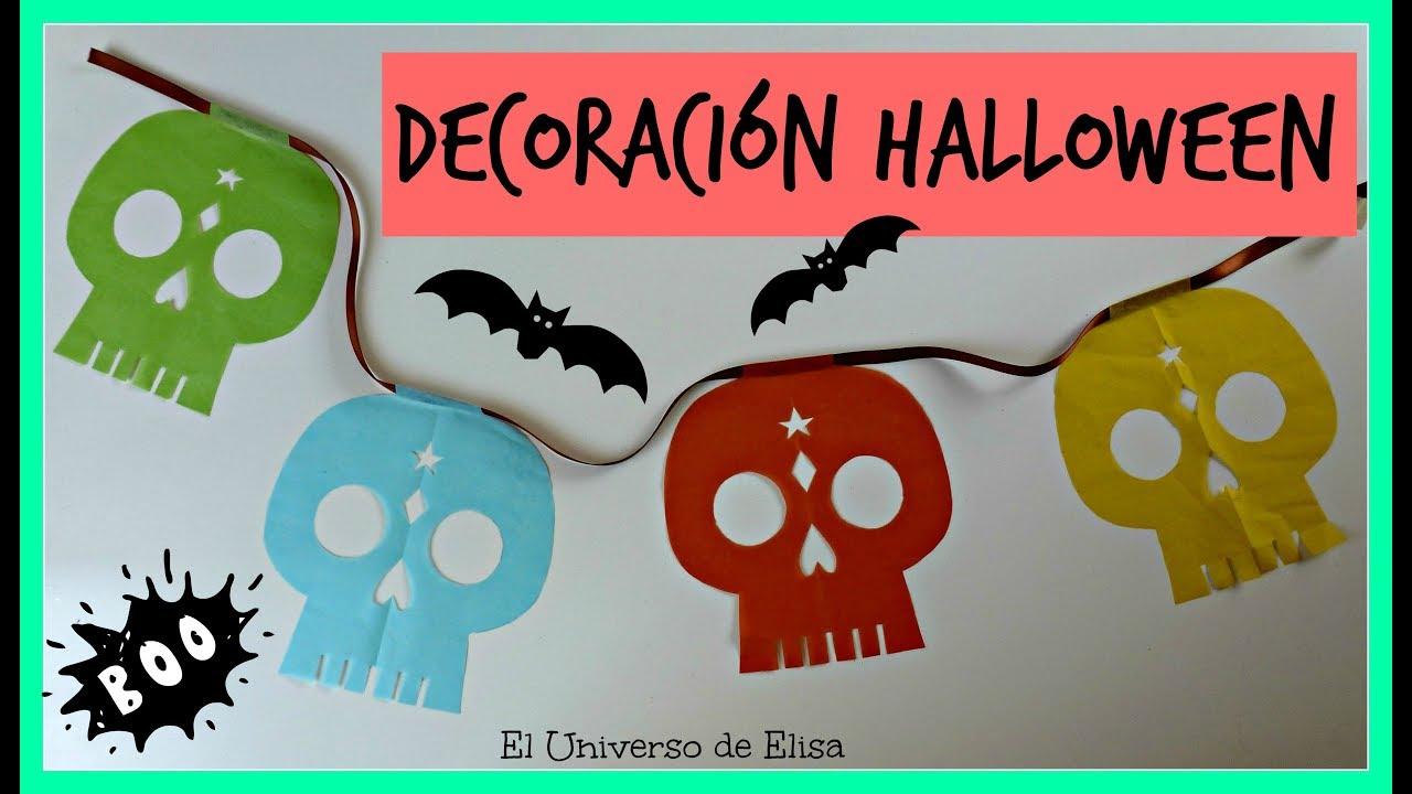 Decoración Día de los Muertos / Halloween ,Guirnalda calaveras, Guirnalda Calacas
