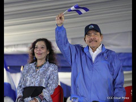 Presidente Daniel Ortega y Vicepresidenta Rosario Murillo presiden Desfile Patrio 2019