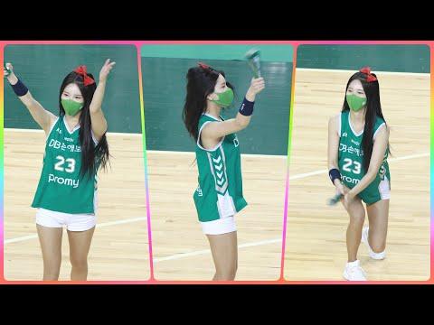 [4K] 치어리더 원민주 직캠 (cheerleader) - 작전타임 - 원주DB 응원가 @남자농구(원주DB)…