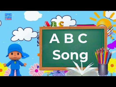 APRENDENDO ALFABETO EM INGLES COM POCOYO - The ABC Song -alphabeth song - Nursery Rhymes