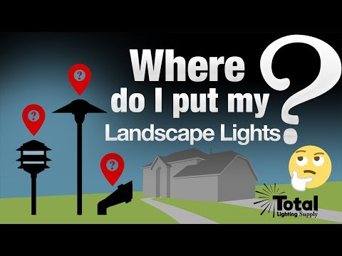 Where do I put my LED Low Voltage Outdoor Landscape Lights?