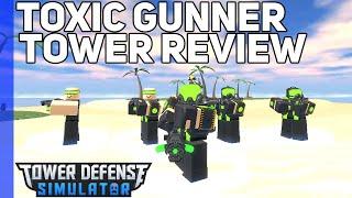 Toxic Gunner Tower Review | Tower Defense Simulator