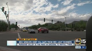 New Sensors Keep You Safe From Red Light Runners