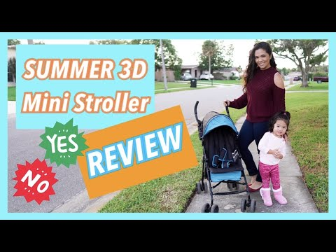 Summer Infant 3D Mini Convenience Lightweight Compact Fold Stroller Review & Demo Pros & Cons 2020
