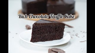 Rich Chocolate Truffle Cake | Chocolate Truffle Cake Recipe | How to Make Chocolate Truffle  Cake