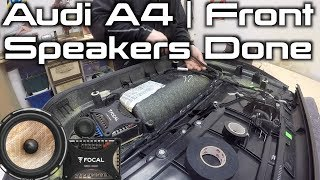 Audi A4 Front Speakers Installed | Focal PS165-fx