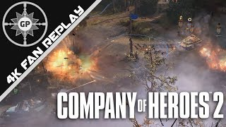 Company of Heroes 2 4K Replays #72 - Command and Conquer