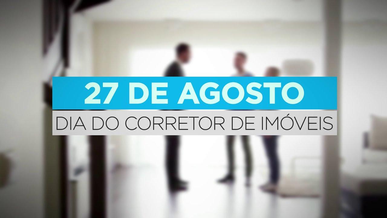 27 de Agosto, dia do CORRETOR DE IMÓVEIS