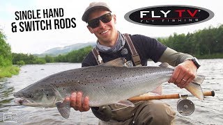 FLY TV - Salmon Fishing with Single Hand and Switch Rods (German Subtitles)