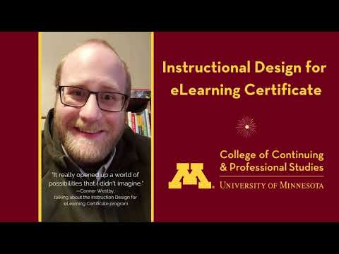 Instructional Design for eLearning Certificate Student - YouTube