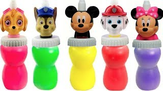 Learn Colors with Paw Patrol Mickey Mouse Slime Surprise Toys Colours | Fizzy Fun Toys