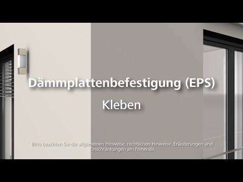 Dämmung (EPS) kleben - Wärmedämmung- / WDVS- / Fassadendämmung-Verarbeitung