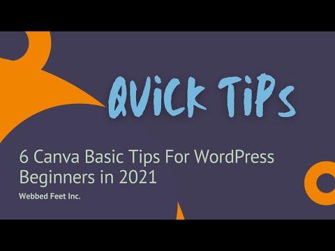 6 Canva Basic Tips For WordPress Beginners in 2021