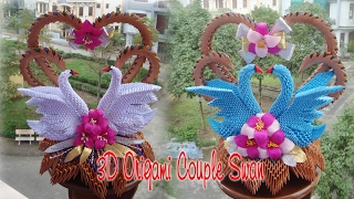 3D ORIGAMI COUPLE SWAN | PAPER SWAN WEDDING  DECORATION