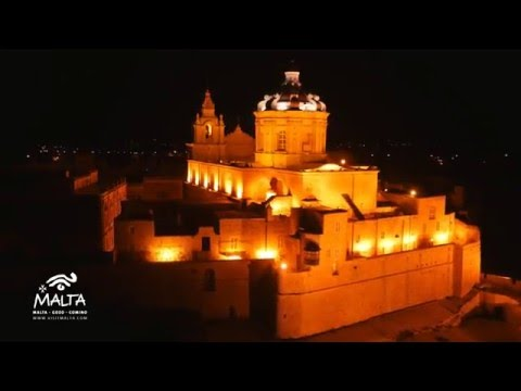 Night-time Views of Malta from the Air