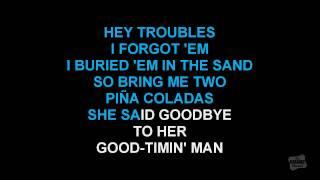 Two Pina Coladas in the style of Garth Brooks karaoke video lyrics