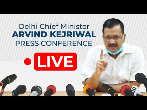 Delhi Chief Minister Arvind Kejriwal Addressing an Important Press Conference