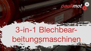 3-in-1 Blechbearbeitungsmaschinen (Ratgeber)