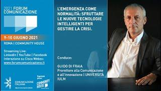 Youtube: Digital Talk | L'emergenza come normalità: sfruttare le nuove tecnologie intelligenti per gestire la crisi | Forum Comunicazione 2021