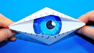 Смотреть онлайн Делаем моргающий глаз, развлекаем ребенка