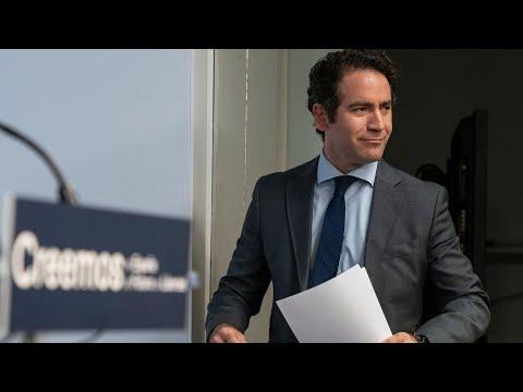 Teodoro García Egea ofrece una rueda de prensa tras el Comité de Dirección