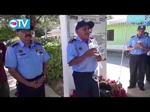 Policía Nacional de Nueva Segovia rindió homenaje al Comandante Carlos Fonseca Amador en el 42 aniversario del paso a la inmortalidad