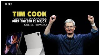 """""""Prefiero ser el mejor que el primero"""", Tim Cook, CEO de Apple"""