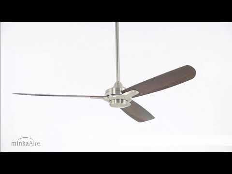 Video for Rudolph Brushed Nickel 52-Inch Fan with Maple Blades