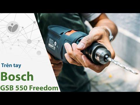 Trên tay máy khoan đa năng Bosch GSB 550 Freedom