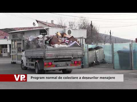 Program normal de colectare a deșeurilor menajere