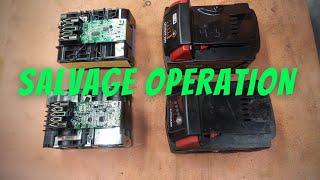 Milwaukee Battery Transplant - Salvaging an M18 5.0 Ah Battery
