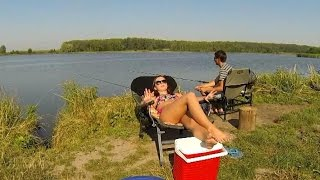 Берите девушек на рыбалку! Take your girl fishing!