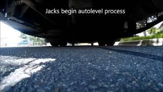 HWH auto level jacks Class A Motorhome