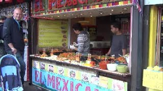 preview picture of video 'London Street Food. Great Mexican Restaurant in Camden Market, Camden Town'