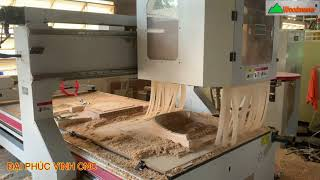 MÁY CNC 3D 5 Trục Woodmaster gia Công Tựa ghế Kennedy..., Tựa ghế Ván ép...