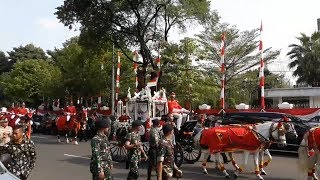 Bendera Pusaka untuk Upacara HUT ke-73 RI Diarak Menuju Istana Merdeka