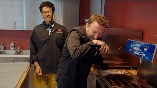 Richard Ayoade & Lee Mack make chocolate - Travel Man: 48hrs in Brussels...