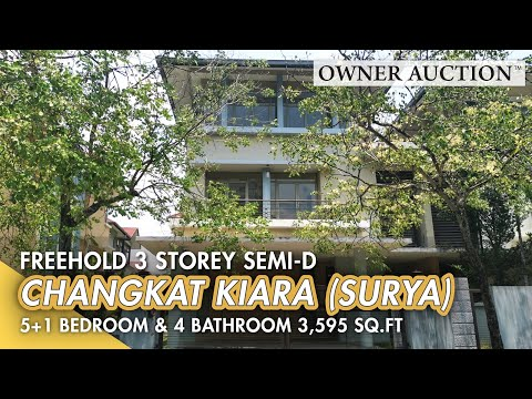 [Owner Auction™] Freehold Vacant 3 Storey Semi Detached House in Sri Hartamas up for Auction Sale