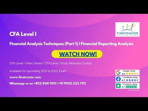 CFA Level 1 - Financial Analysis Techniques (Part 1) - YouTube