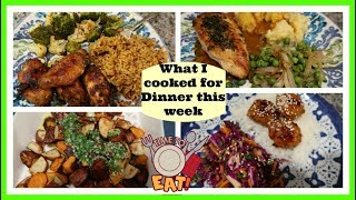 What I cooked for Dinner this week   Dinner Ideas for Anyone!