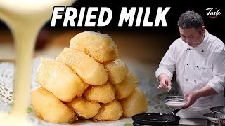 Melt In Your Mouth Fried Milk By Chinese Masterchef • Taste Show