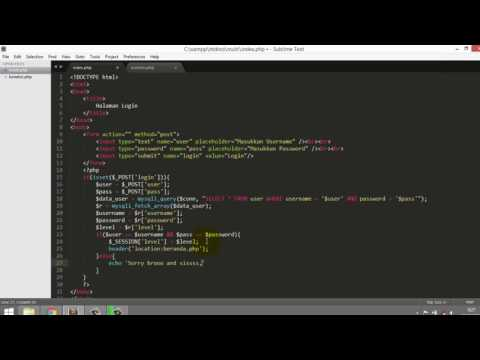mp4 Coding Php Login Sederhana, download Coding Php Login Sederhana video klip Coding Php Login Sederhana