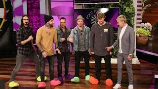 The Backstreet Boys Play 'Foot Flickers'