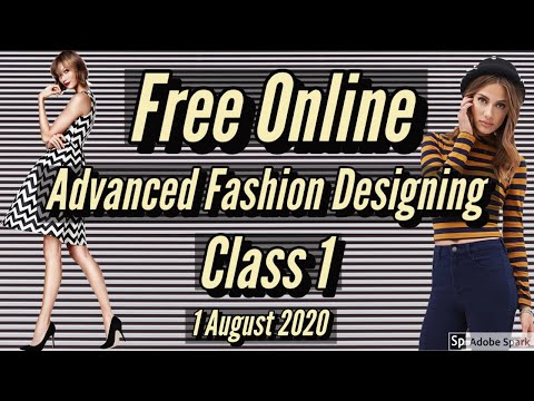 Free Online Advance Fashion Designing Class 1 // Elements Of ...
