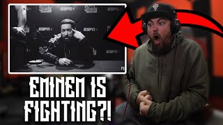 EMINEM IS FIGHTING SOMEONE   RAPPER REACTS to Eminem - Higher (Official Music Video)