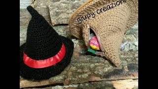 AMIGURUMI / CAPPELLO BEFANA  porta caramelle/crochet epiphany hat