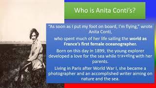 Anita Conti's 120th Birthday
