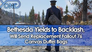 Bethesda Yields to Backlash, Will Send Replacement Fallout 76 Canvas Duffel Bags
